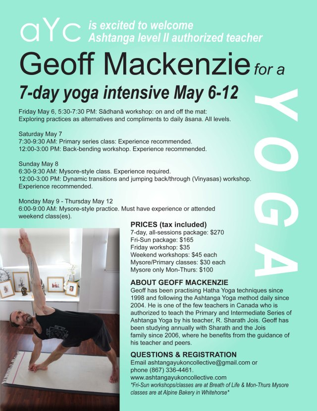 Geoff Mackenzie poster w new workshop time