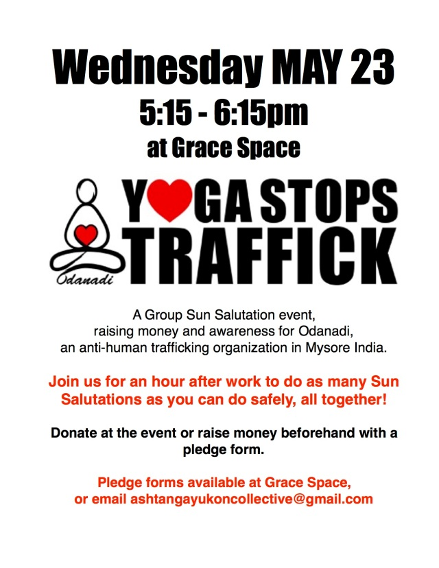 yoga stops traffick may 23